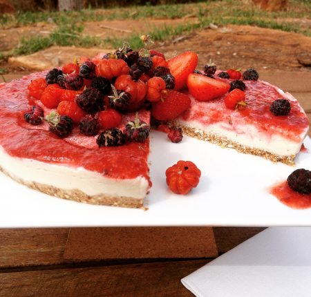 Raw Cheesecake de Frutas Vermelhas