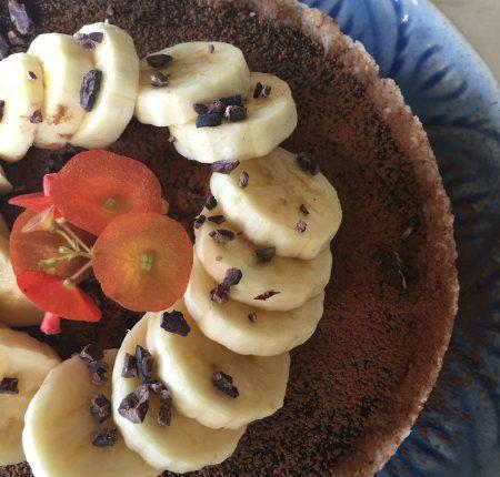 Torta de Banana e Alfarroba